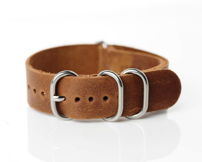 NATO Commmader light brown leather 18mm-SCS_5368