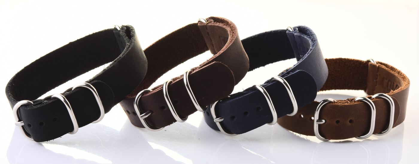 16mm NATO Commander® leather straps